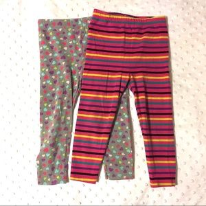 2 pairs heart and stripes pants